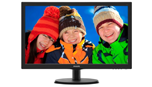 Philips 21.5 1920x1080 5ms VGA DVI-D Black Monitor