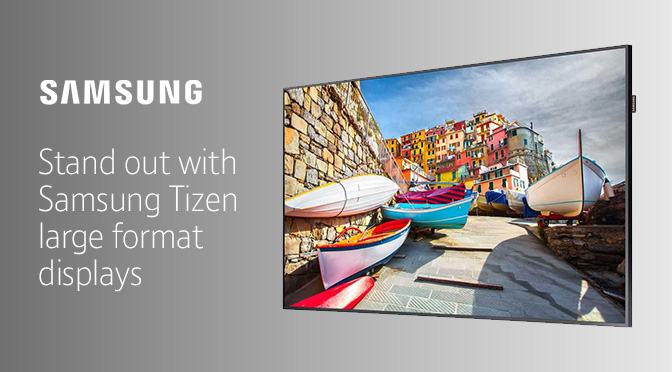 Samsung TIZEN Large Format Display