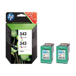 HP 343 2-pack Tri-colour Original Ink Cartridges