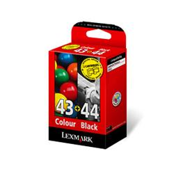 Lexmark Combo Pack No.43XL + No.44XL - Print cartridge - 1 x black, colour (cyan, magenta, yellow)