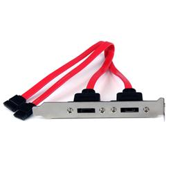 StarTech.com 2 Port SATA to eSATA Slot Plate Bracket