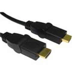 Cables Direct HDMI 5M SWIVEL CABLE AM - AM 1.3B GOLD