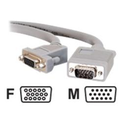 C2G 10m Premium Shielded HD15 SXGA M/F Monitor Extension Cable with 45° Angled Female Connector