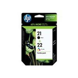 HP 21 Black22 Tricolour 2pack Original Ink Cartridges