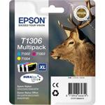 Epson T1306 Multipack Yellow/Cyan/Magenta Print Cartridge