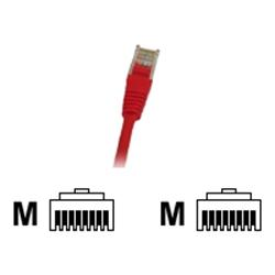 Cables Direct Patch Cable - RJ-45 (M) to RJ-45 (M) - 2m - UTP - CAT 5e - Moulded - Red