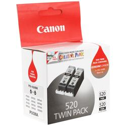 Canon PGI 520PGBK Twin Pack - Ink tank - 2 x pigmented black - for PIXMA