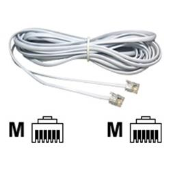 Cables Direct 2m White RJ11  RJ11 ADSL Modem Cable BQ 250
