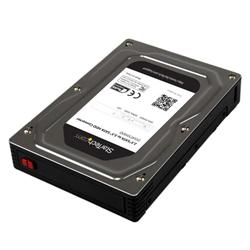 StarTech.com 2.5 to 3.5 SATA Aluminium Hard Drive Adapter Enclosure SSD  HDD Height up to 12.5mm