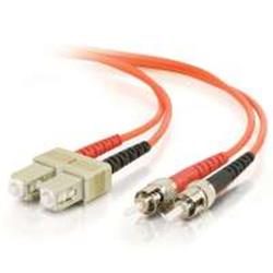 C2G 20m ST-ST 50/125 OM2 Duplex Multimode PVC Fibre Optic Cable (LSZH) - Orange