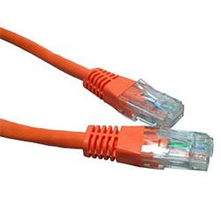 Cables Direct Patch Cable RJ-45 (M) - RJ-45 (M) 10m - UTP - CAT 5e - Moulded - Orange