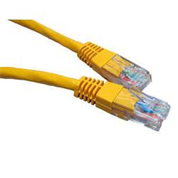 Cables Direct Cat 6 Ethernet Network Cables Yellow 1m