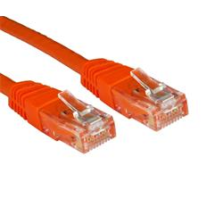 Cables Direct 0.5m CAT 6 UTP PVC Injected Moulded Cable - Orange B/Q 250