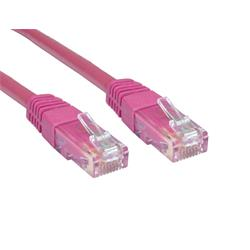 Cables Direct 0.5m CAT 6 UTP PVC Injected Moulded Cable - Pink B/Q 250