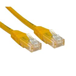 Cables Direct 3m CAT 6 UTP PVC Injected Moulded Cable - Yellow B/Q 100