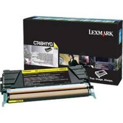 Lexmark C748H3YG Yellow High Yield Toner Cartridge 10k Yield