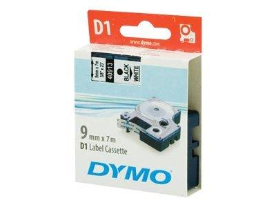 Office Supplies Eslte Dymo Tape 9mmx7m Black/white 40913