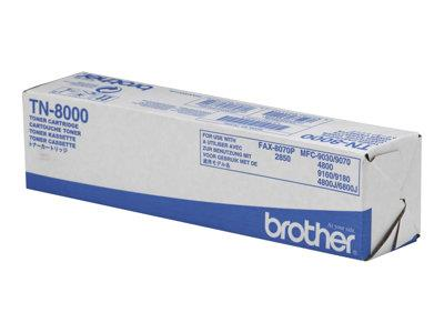 Brother TN-8000 Toner Cart - Fax8070P / MFC9070 / 9160 / 9180 - 1 x black - 2200 pages