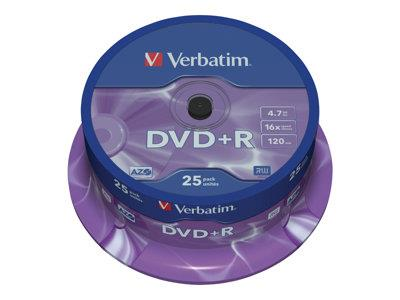 Verbatim DVD+R 16x 4.7GB 25pack Spindle