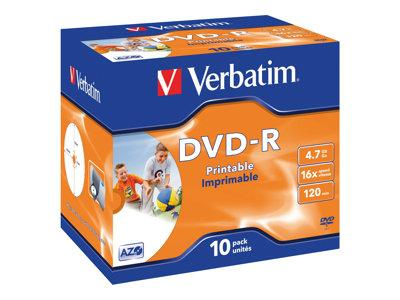 Verbatim DVD-R 16x Printable 10Pack