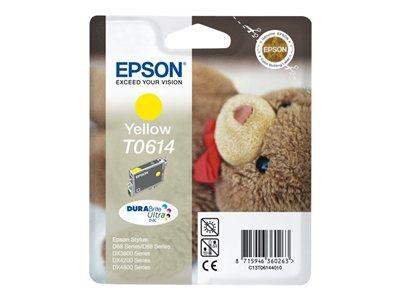 Epson T0614 - Print cartridge - 1 x pigmented yellow - 250 pages