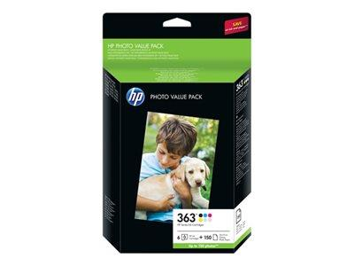 HP 363 Series Photo Value Pack-150 sheet/10 x 15 cm