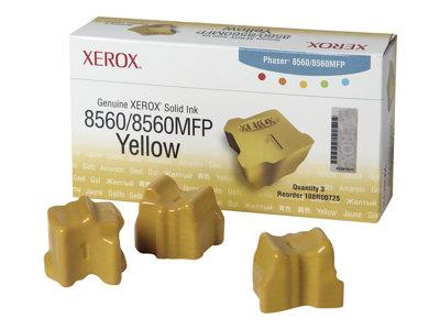 Xerox 3Pk Yellow Solid Ink Sticks for 8560 Series