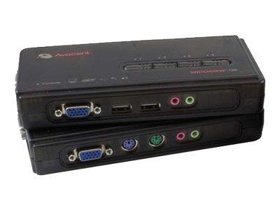 Avocent 4PORT PS/2 SWITCH WITH AUDIO CABLE SETS INCLUDED