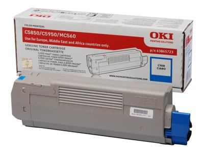 OKI 6k Cyan Toner for C5850/5950