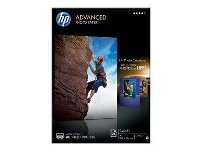 HP Advanced Glossy Photo Paper-25 sheet/A4/210 x 297 mm