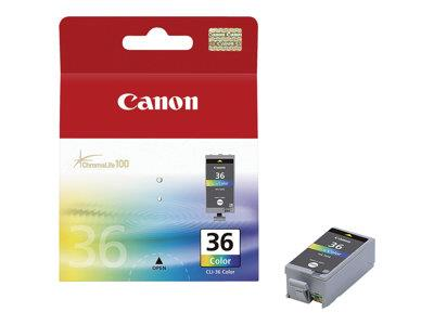 Canon CLI-36 Colour Ink Tank (Black/Cyan/Magenta/Yellow)