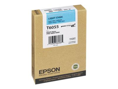 Epson T6055 Light Cyan Ink Cartridge for Stylus Pro 4800