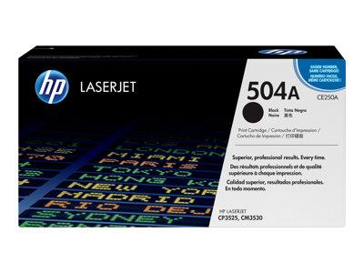 HP 504A Black Original LaserJet Toner Cartridge