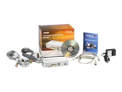 StarTech.com 2 Port USB DVI KVM Switch with Audio and Cables