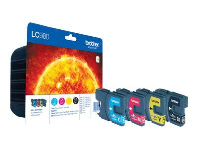 Brother LC980VALBP - Print cartridge - 1 x black, yellow, cyan, magenta