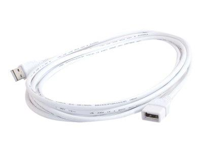 C2G 2m USB A Male to A Female Extension Cable - White