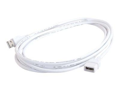 C2G 1m USB A Male to A Female Extension Cable - White