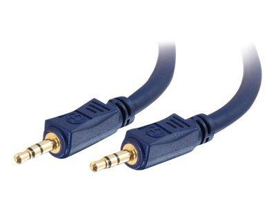 C2G .5m Velocity™ 3.5mm M/M Stereo Audio Cable