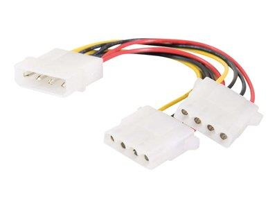 C2G One 5-1/4in to Two 5-1/4in Internal Power Y-Cable 15cm