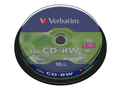 Verbatim CD-RW 12x 10pk Spindle