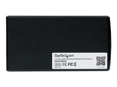 StarTech.com 2.5in Black eSATA USB External Hard Drive Enclosure for SATA HDD