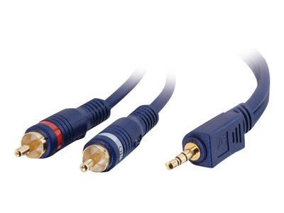 C2G 15m Velocity™ One 3.5mm Stereo Male to Two RCA Male Y-Cable