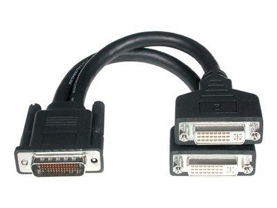 C2G One LFH-59 (DMS-59) Male to Two DVI-I™ Female Cable 22cm