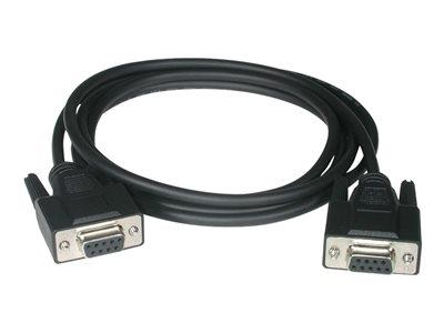 C2G 3m DB9 F/F Null Modem Cable - Black