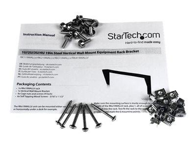 StarTech.com 3U 19in Steel Vertical Wall Mount Equipment Rack Bracket