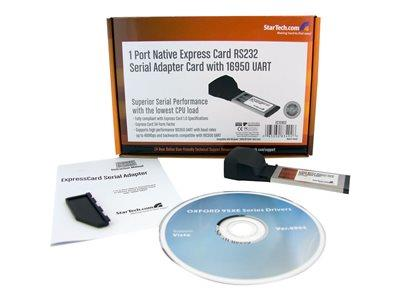 StarTech.com 1 Port Native ExpressCard RS232 Serial Adapter Card with 16950 UART