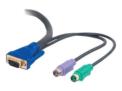 C2G 5m Ultima™ 3-in-1 Universal KVM HD15 VGA M/M Cable