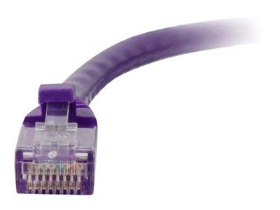 C2G .5m Cat5E 350 MHz Snagless Patch Cable - Purple
