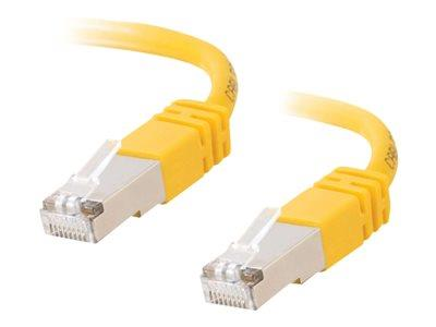 C2G 1m Shielded Cat5E Moulded Patch Cable - Yellow