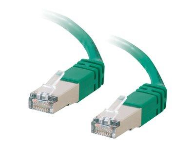 C2G 2m Shielded Cat5E Moulded Patch Cable - Green